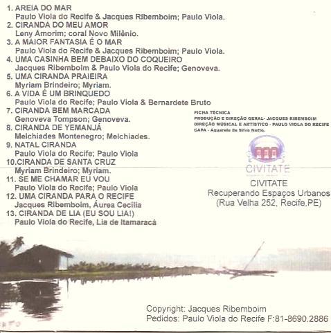 capa traseira do CD Sonho Cirandeiro