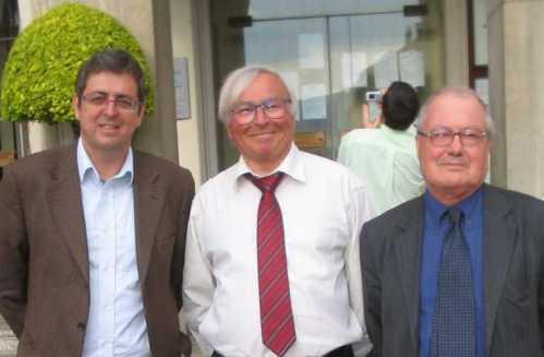 visita a Cluses com le maire Jean Claude Leger e o reitor Claude Courlet